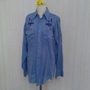 Blue light weight western shirt